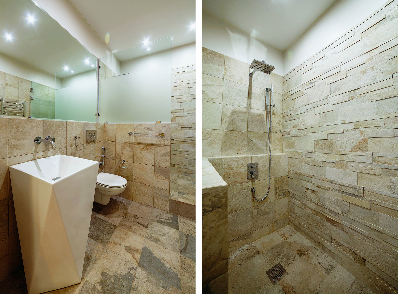 Interior, decor, warm, light, bathroom