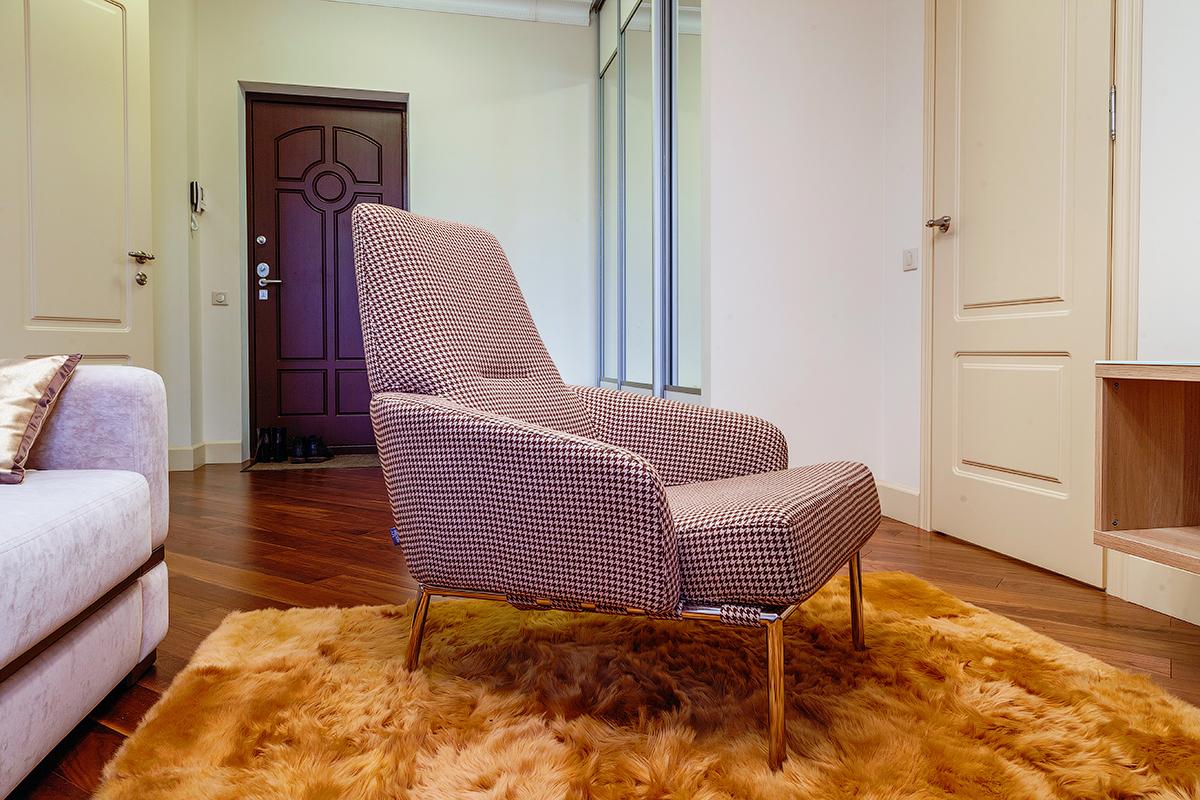 Interior, decor, warm, light, livingroom, armchair